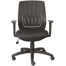 StingRay 26.6'' W x 24.2'' D x 37'' H Adjustable Height Office Chair with Mesh Back - Black