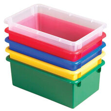 15 Pack Heavy Duty Stack and Store Tubs - Assorted Colors - 13.5''W x 8.5''D x 5.25''H
