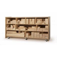Big Birch Laminate Block Storage Cart