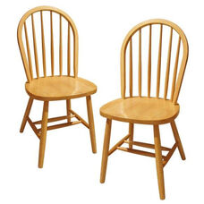 Windsor Chair in Beechwood-Set of 2