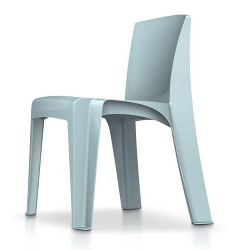 RazorBack Armless Intense Use 30'' H Stack Chair - Blue Gray