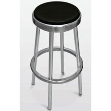 Backless Outdoor Barstool with Black Seat