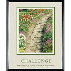 Advantus 24'' W x 30'' L Framed Motivational Art Print - Challenge with Garden Path