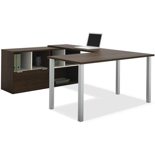 Contempo U-Shaped Desk with Scratch and Stain Resistant Finish - Tuxedo