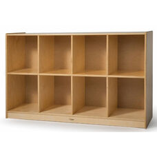 Low Cubby Birch Laminate Storage Unit with Eight Spacious Cubbies