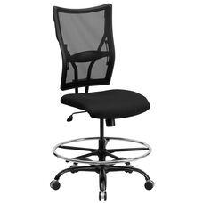 HERCULES Series Big & Tall 400 lb. Rated Black Mesh Drafting Chair