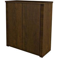 Prestige + 2-Door Cabinet with Shelving - Chocolate