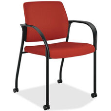 The HON Company Mobile Stacking Multipurpose Armchair with Casters - Poppy