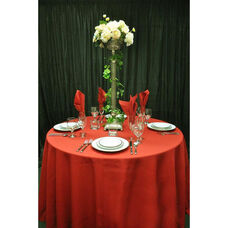 120'' Renaissance Stain Resistant Series Round Tablecloth - Rust
