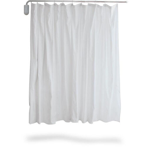 Telescopic Curtain Complete With Standard White Vinyl - 2 Pack