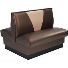36''H Upholstered V-Shaped Back Double Sided Booth - Grade 4 Vinyl