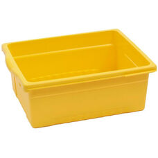 Royal Large Open Environmentally Friendly Tough Plastic Tub - Yellow - 15.63''W x 12.56''D x 6''H