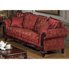 Serta® Tia Traditional Style Cotton Blend Sofa - Momentum Magenta