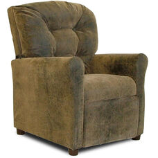 Kids 4 Button Tufted Back Microsuede Recliner - Brown Bomber