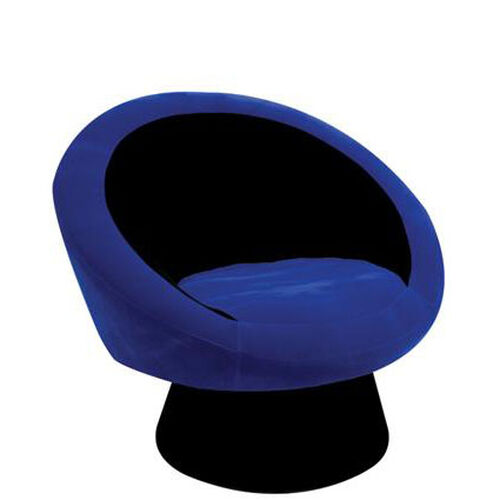 Black and Blue Saucer Chair