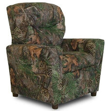 Kids True Timber Fabric Theater Recliner with Cup Holder - Camo Green