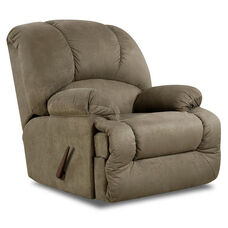 Virginia Transitional Style Polyester Recliner - Glacier Olive