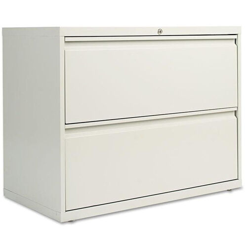 Alera® Two-Drawer Lateral File Cabinet - 36w x 19-1/4d x 28-3/8h - Light Gray