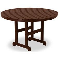POLYWOOD® Round 48'' Dining Table - Mahogany