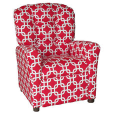 Kids Recliner with Button Tufted Back - Gotcha Red