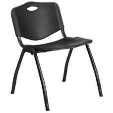 HERCULES Series 880 lb. Capacity Black Plastic Stack Chair