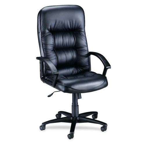 Lorell Tufted Leather Series Executive High Back Chair