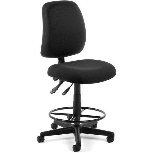 Posture Adjustable Height Task Chair with Drafting Kit - Black