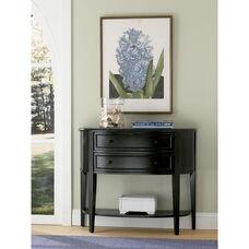 Antique Black Demilune Console Table