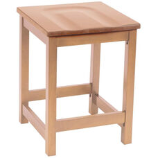 Eastwood Backless Counter Height Stool with Contoured Wood Seat - Natural
