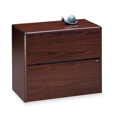 The HON Company 10700 Series Contemporary 2 Drawer Lateral File in Mahogany Finish
