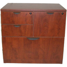 Cherry Combo Lateral File with Lock