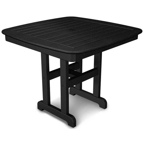 POLYWOOD® Nautical 37'' Dining Table - Black