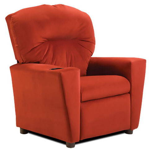 Kids Red ''Suede'' Recliner