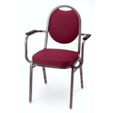 Prestige Banquet Stack Chair with Waterfall Style Seat and Arms - Oval Back