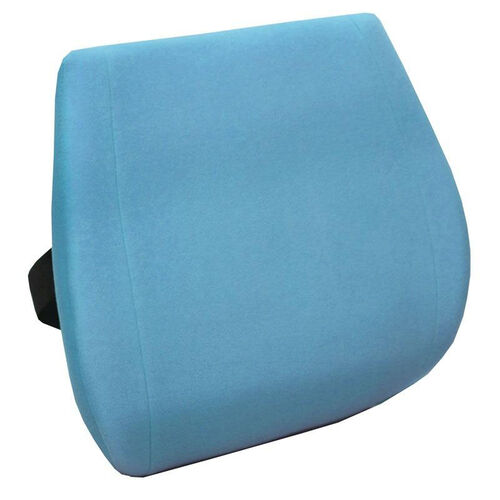 Memory Foam Massaging Lumbar Cushion with Heat - Spa Blue