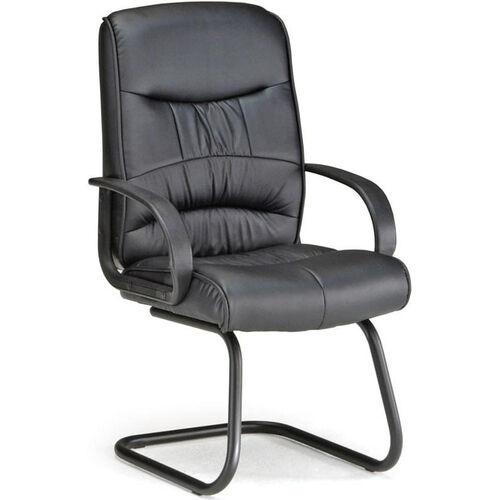 Encore Leatherette Guest Chair - Black