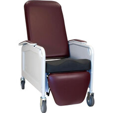 Lifecare Recliner in Burgundy - 3 Positions