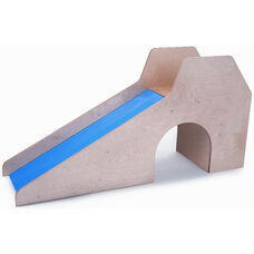 Sturdy Birch Laminate Slide with Stairs and Tunnel
