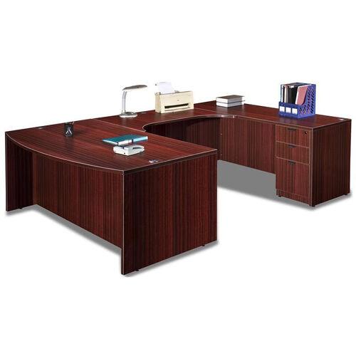 Mahogany Bow Front Desk U Suite