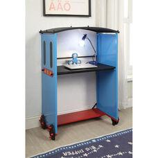 Tobi 35''W x 50''H Desk - Train - Blue, Red, and Black