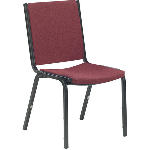 8800 Series Armless Comfort Stacker Chair in Sedona Ruby Fabric and Char Black Frame - 19.5''W x 22.75''D x 33''H