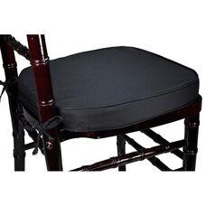 Legacy Series 2''H Foam Chiavari Chair Cushion with 12'' Ties - Black