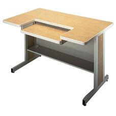 Customizable Series 5000 Double Bar Leg Workstation - 30''W x 48''D x 29''H