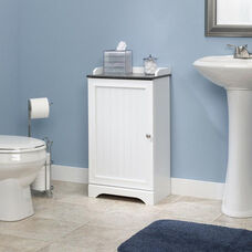 Bath Collection 31.25''H Floor Cabinet with Adjustable Shelves - Soft White
