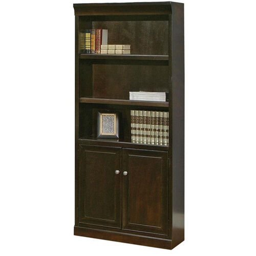 kathy ireland Home™ Fulton Collection 30''W x 72''H Bookcase with Lower Doors -Espresso