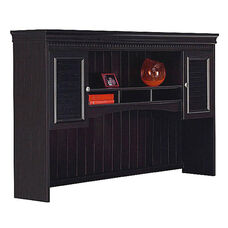 Fairview L-Shaped Computer Desk Hutch - Black