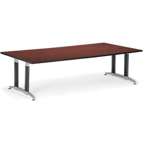 48'' D x 96'' W Mesh Base Conference Table - Mahogany