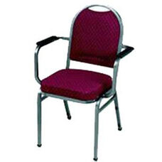 Prestige Banquet Stack Chair with Waterfall Style Seat and Arms - Open Back