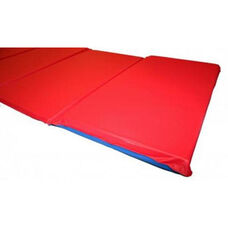 Vinyl Foldable Basic Rest Mat with Pillow Section - 19''W x 45''D x .63''H - Red and Blue