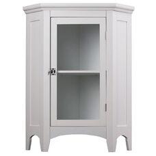 Madison Corner Floor Cabinet in White